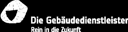 Logo invertiert: Die Gebäudedienstleister - Rein in die Zukunft